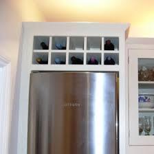 600mm wide over fridge wine rack cabinet