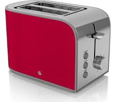 Red 2 Slice Toaster Swan Retro St17020bn 2 Slice Toaster Black Bluewater 27 99