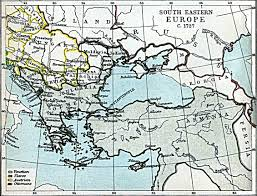 Map Eastern Europe South Eastern Europe Map 1727 A D Full Size