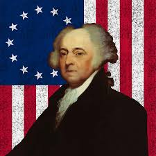 Johns Flag John Adams And The American Flag Painting By War Is Hell Store