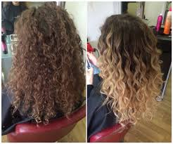 getting hair curled and color curly balayage beautiful summerhair hair pinterest