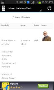 Portfolio Of Cabinet Ministers Of India Ministers Of India Android Apps On Google Play
