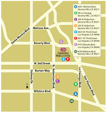Street Map Of Los Angeles by Locations And Parking Cedars Sinai