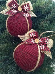 Christmas Tree Ornament Ideas Ornaments Christmas Fabric Ornaments Plaid Xmas Tree Ornaments