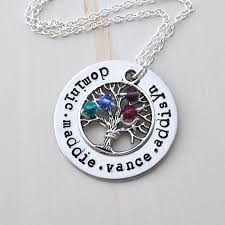 personalized family tree necklace family tree necklace personalized b family tree necklace tree