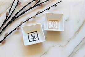 porcelain skeleton ring holder images Monogram ring dish personalized ring dish monogram porcelain jpg