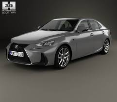 lexus sport 2017 black lexus is xe30 200t f sport 2017 3d model hum3d
