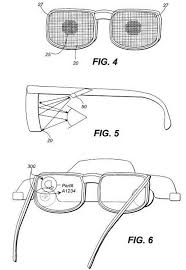 google glass patent applications bone conduction laser projected