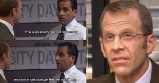 Toby Meme - 15 times michael scott was savage af towards toby thethings