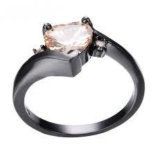 november birthstone jewelry black gold heart november birthstone ring