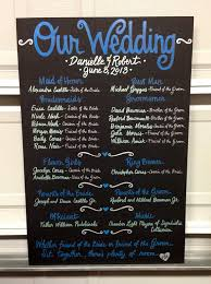 wedding program poster pin now to find later custom painted 20x30 wedding program