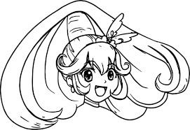 glitter force head coloring page wecoloringpage