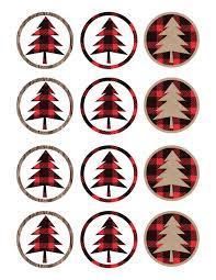lumberjack cupcake toppers free printable paper trail design