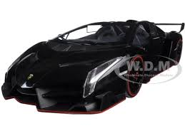 model lamborghini veneno veneno roadster black 1 18 diecast model car kyosho 09502 bk