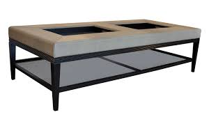 Trays For Coffee Table by Coffee Table Amazing Upholstered Ottoman Coffee Table With Tray