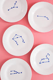 horderve plates zodiac appetizer plates