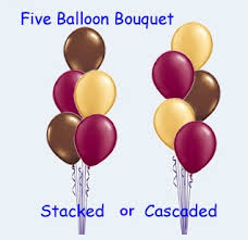 ballon boquets 5 balloon bouquet plain 12 hours we like to party