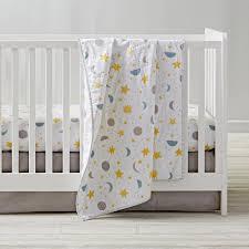 Cloud Crib Bedding Clouds Sun And Moon Celestial Nursery Motifs