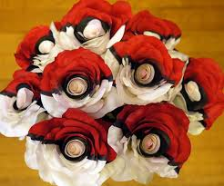 colored roses pokeball roses