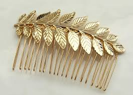 vintage hair combs hair comb 24k gold plated bridal hair comb bridal hair