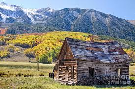 Colorado landscapes images Rustic rural colorado cabin autumn landscape photograph by james jpg