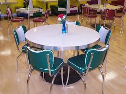 interior attractive retro dining room decoration using round