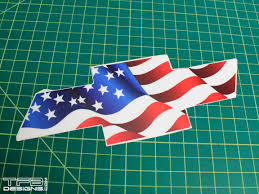 Us Flag Decal American Flag Front Emblem Decal Fits 1998 2004 Chevy S10
