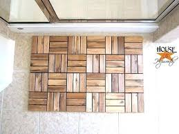 Bamboo Outdoor Rug Bamboo Bath Rug Create A Spa Mat Using Outdoor Decking U2013 Buildmuscle