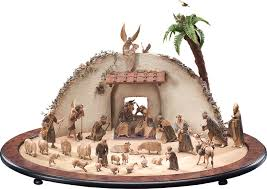 decorating wonderful nativity sets with animals for christmas