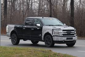 spy shots ford u0027s new look 2018 f 150 pickup truck caught on road