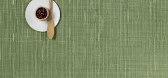 Bamboo Table Top by Chilewich Green Placemats Rectangle Table Top Linens