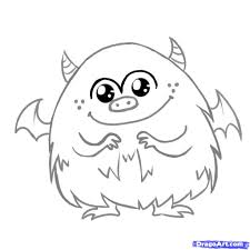 monster pictures to color colouring pages coloring page