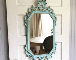 oval wall mirror baroque mirror ivory shabby chic mirror