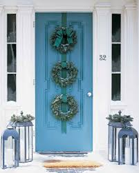 Christmas Decoration For Front Door by Blue Spruce Wreath Trio Martha Stewart