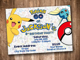 pokemon go invitation personalized digital printable by