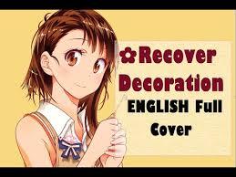 heart pattern lyrics nisekoi recover decoration nisekoi ed 2 ikana youtube