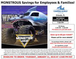 monster truck jam discount code employee discounts district of osceola county