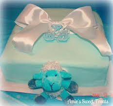 Tiffany Blue Baby Shower Cake - amies sweet treats tiffany blue baby shower cake