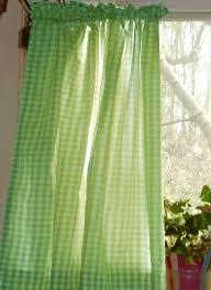 Green Kitchen Curtains Lime Green Gingham Kitchen Café Curtain Gingham Pinterest