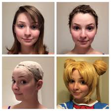 put your on a haircut how to pin your hair wig cap and wig tutorial rachsaysmer cosplay