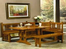 furniture sturdy dining table with bench dining room table
