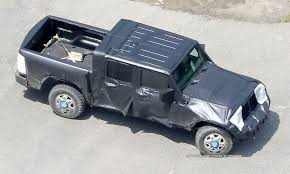 jeep truck spy photos spy shots reveal jeep wrangler pickup truck testing autotribute