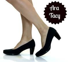 three comfortable classic black pumps