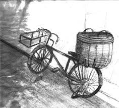 old bicycle sketch by thelivingshadow on deviantart