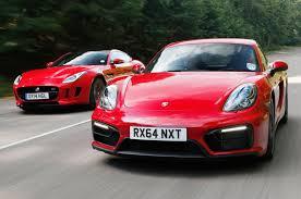 porsche boxster comparison comparison porsche cayman gts versus jaguar f type coupe autocar