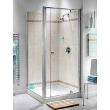 800mm ellbee profile plus semi frameless pivot door shower