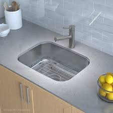 How To Measure For Kitchen Sink by Kraus Kbu12 23 Inch Undermount Single Bowl 16 Gauge Stainless