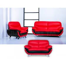 2 397 00 jonus living room set italian black and red leather