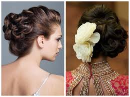 indian wedding hairstyle ideas for medium length hair wedding