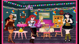 princess halloween party room decor cartoon video game for girls